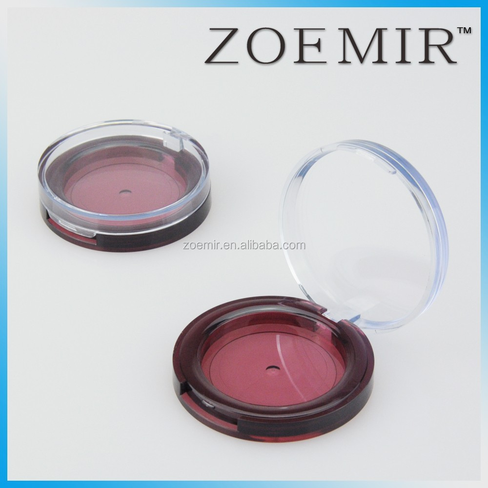 Wholesale Plastic custom empty compact make up container makeup container/compact powder case/cosmetic packaging