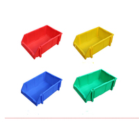 4 Colors Nestable & Stackable Storage Bin Warehouse Tool Plastic Box