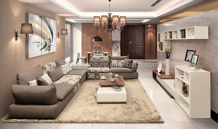 Fabric Furniture Brown Color 2014 Latest Sofa Design Living Room ...