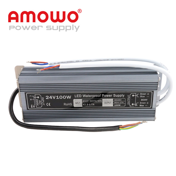100w IP67 4.2a driver led 120v ac to 24v dc power supply, led power driver