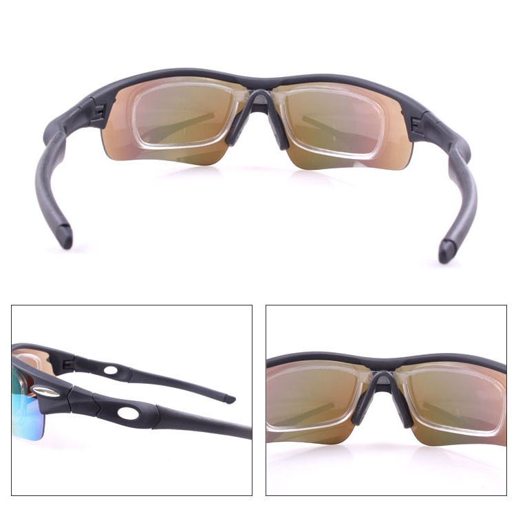 Wholesale 5 lenses sports sunglasses, muti-color uv400 racing bicycle cycling goggles
