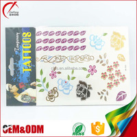 2017 Latest fashion flower temporary non toxic waterproof custom body tattoo sticker designs for women