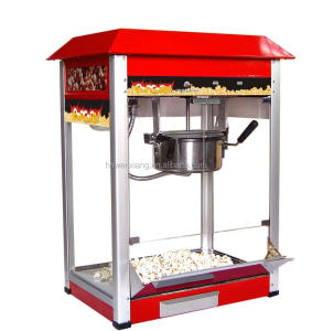 Industrial hot air commercial popcorn machine stainless steel 8 0Z commercial automatic popcorn machine with low pri