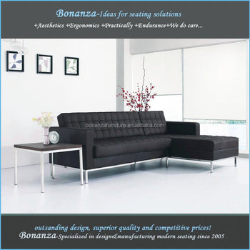 831 2#Modern Leather Sofa Florence Knoll Replica Sofa