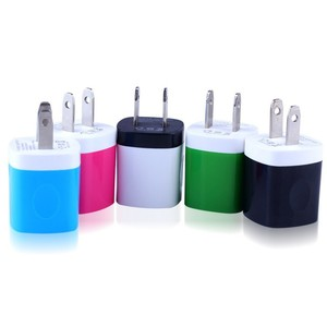 For iphone 4 5 adapter,candy color usb wall charger