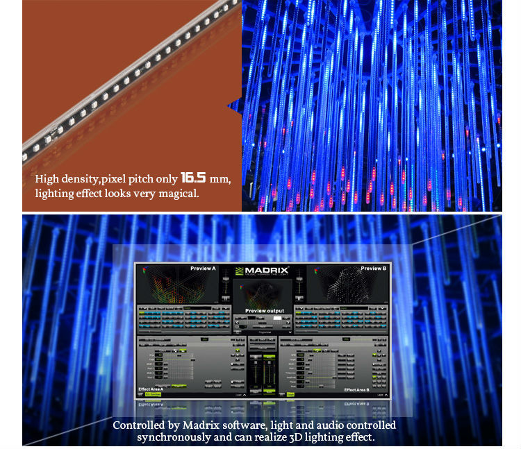 Night Club/stage/wedding Led Meteor Rain Shower Satrfall Tube ...