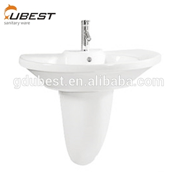 Manufacturers Offer Cheap Prices Single Hole Round Bathroom Wall Hung  Vanity Trough Sink Ceramic Half