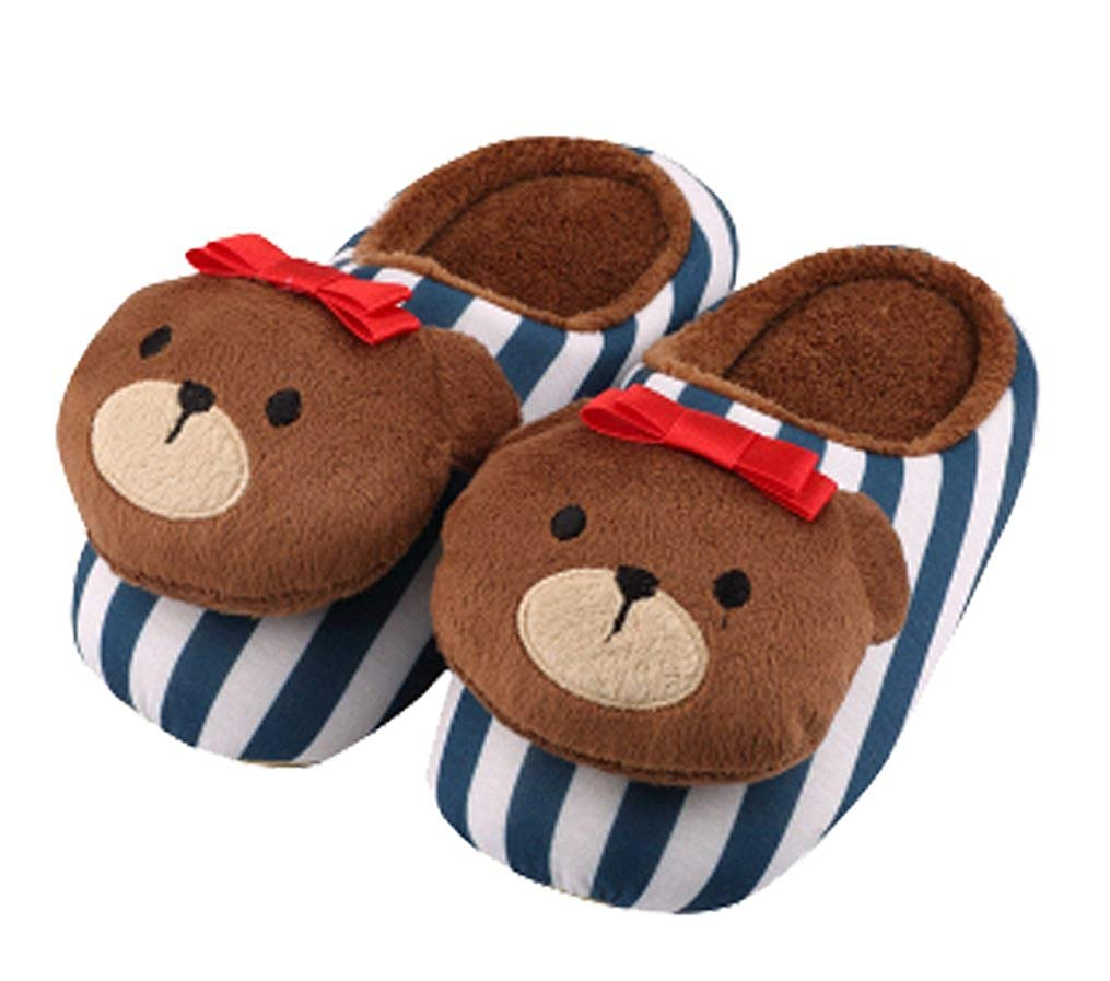 fa320f6d0fa Get Quotations · Cattior Toddler Little Kid Cute Bear Kids Slippers House  Slippers