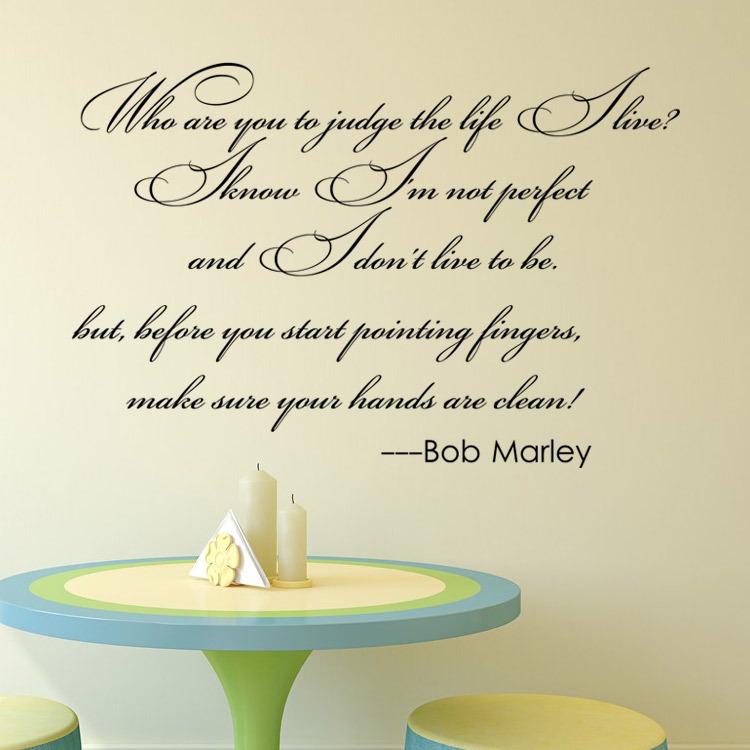 9396 Bob Marley Dire Stickers Muraux Qui sont Vous à Juge la Vie Que ...
