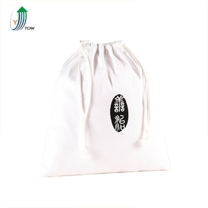 Reusable produce bags white drawstring storage bag with drawstrings