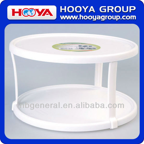 DOUBLE-tier Plastic Lazy Susan Turntable