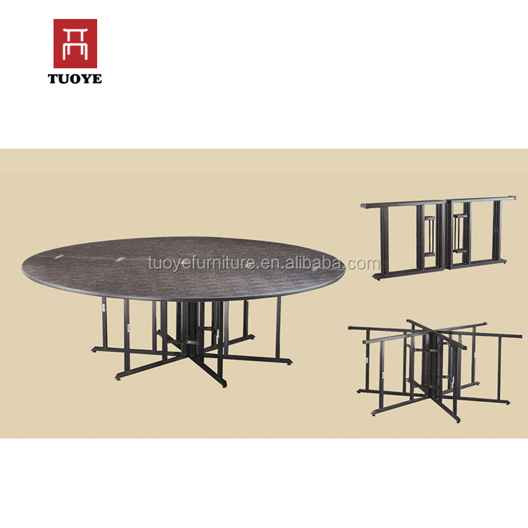 Big size 8ft removable round table for dining room
