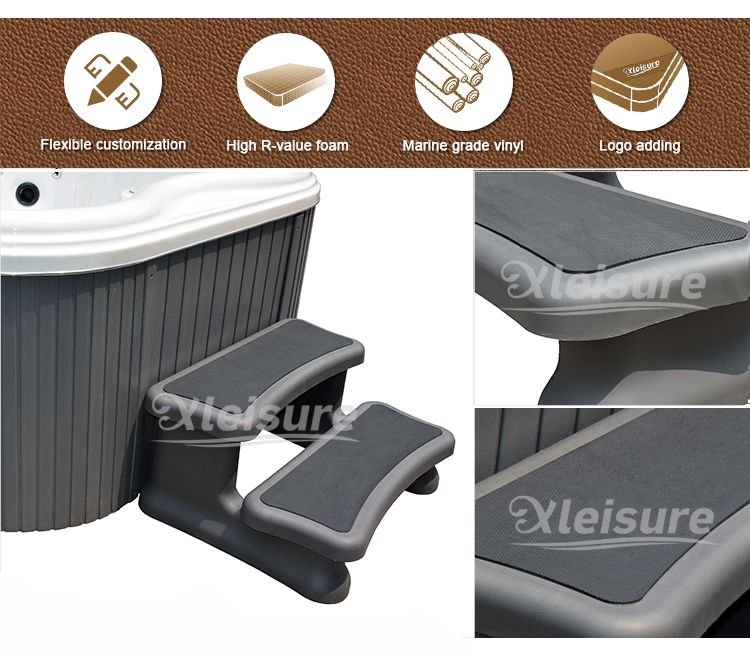 Toughened PP Spa Tub Accessories Universal  Plastic Steps For Hot Tub Easy Installation