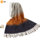 ZHONGCHENG imitated cashmere winter wool shawls scarf with tassels