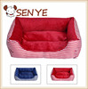 Autumn and winter retro square stripes kennel pet nest kennel mat nest Luxury Pet Sofa