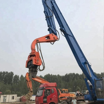 Vibro hammer 20 tons excavator mounted sheet pile machine pile hammers for sale