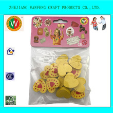 wholesale painted cartoon beads heart shaped wood beads with colorful heart painted wooden bead