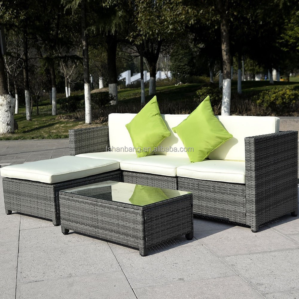 Outdoor 5pcs Rattan Sofa Set Patio Furniture