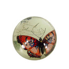 Nice butterfly image crystal glass magnifying dome paperweight