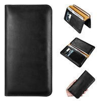 2017 Mobile Phone Case With Wallet Design Black Leather Phone Wallet