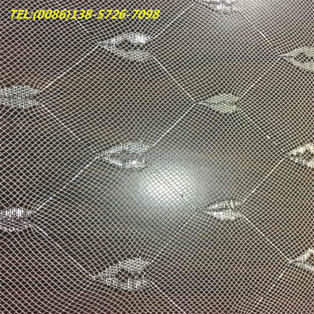 100% <strong>polyester</strong> different types of jacquard mosquito net tulle fabric fishing mesh fabric for girl skirt