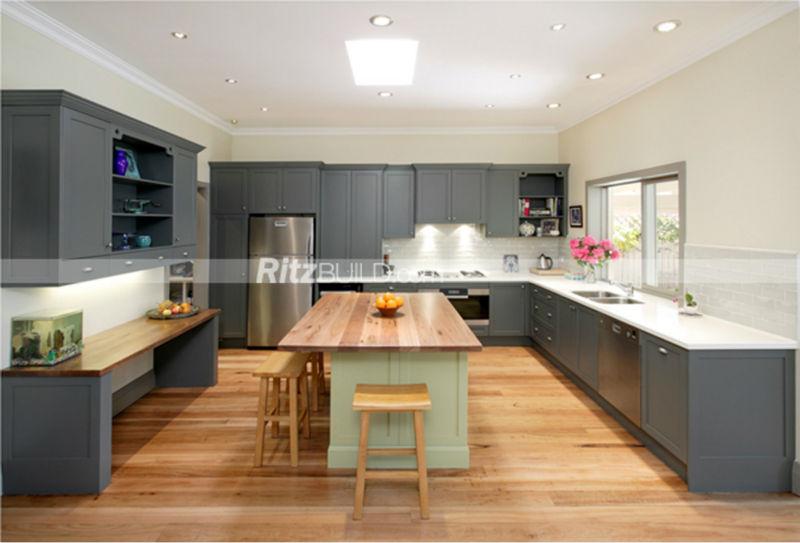Matte Finish Solid Wood Kitchen Wood Construction Oak