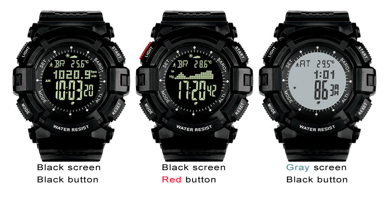 Watches Led Sport Watch For Men Military Waterproof Altimeter Compass Wrist Watch Stopwatch Fishing Barometer Pedometer Male Watch