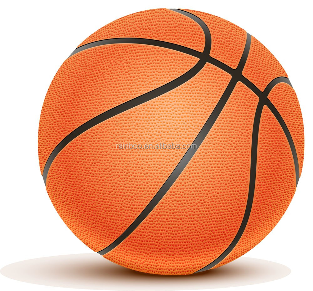 Top quality lowest price customized logo standard size laminated leather basketball