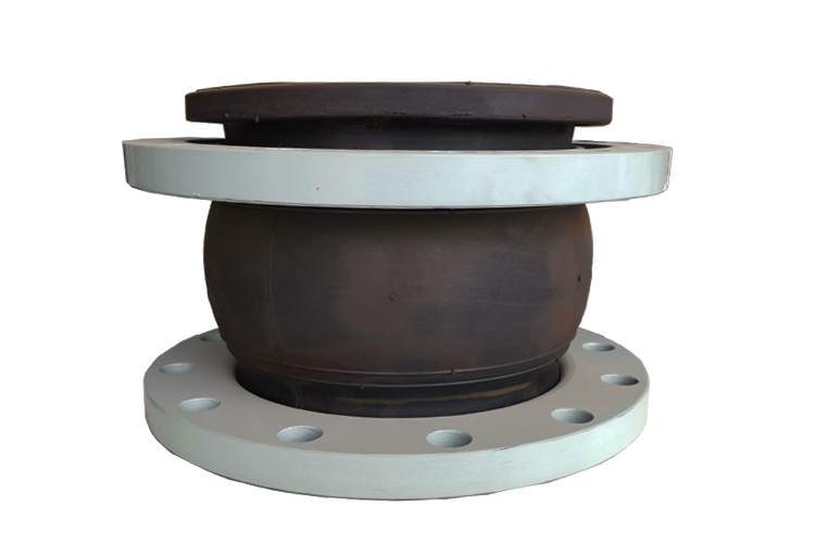 flexible joint for pvc pipe Single Sphere Flexible Rubber expansion joint with Floating Flange