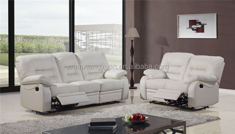Clical Model White Leather Sofas Cheers Furniture Recliner Sofa 3611