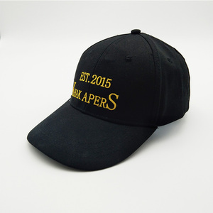 High quality fitted made of cotton baseball cap custom black baseball cap and hat with logo printing