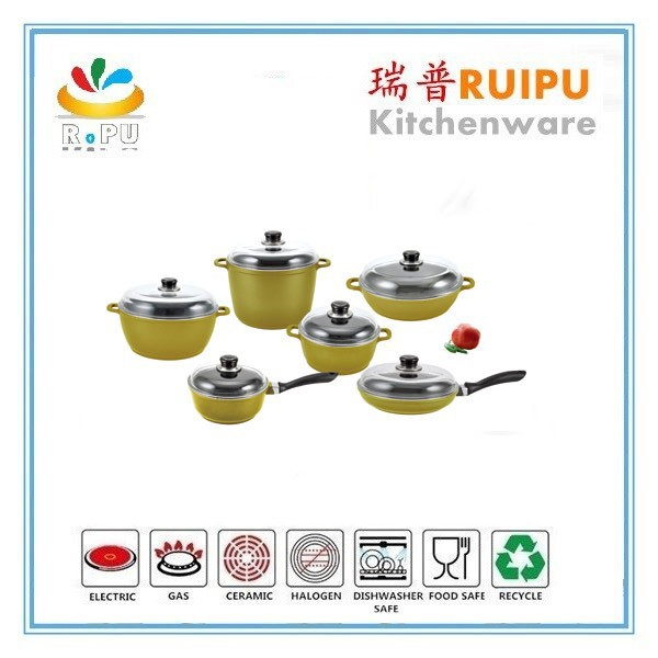 Hot selling 2016 unique design vegetable shaped cookware industrial cooking pot aluminum thermal pot as seen on tv