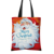 Custom Wholesale Eco Friendly Red Color Merry Christoms Printed Canvas Tote Bag
