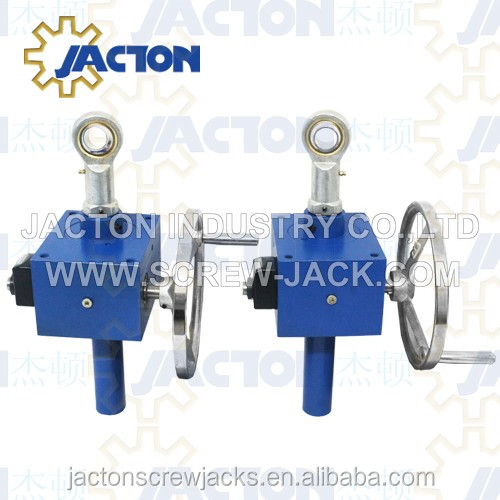 customize jtc10 manually drive lifting screw jack actuator 20mm manual operating ball jacks worm gear actuators