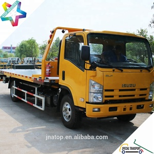 ATOP middle duty 8.0T flat bed rollback car carrier truck with 700P NPR full air brake chassis flat bed wrecker tow truck