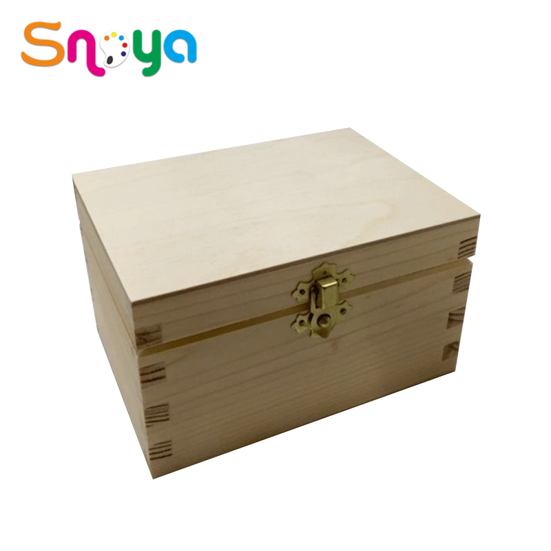 Natural style new creative gifttray smallcontainers open top wooden box
