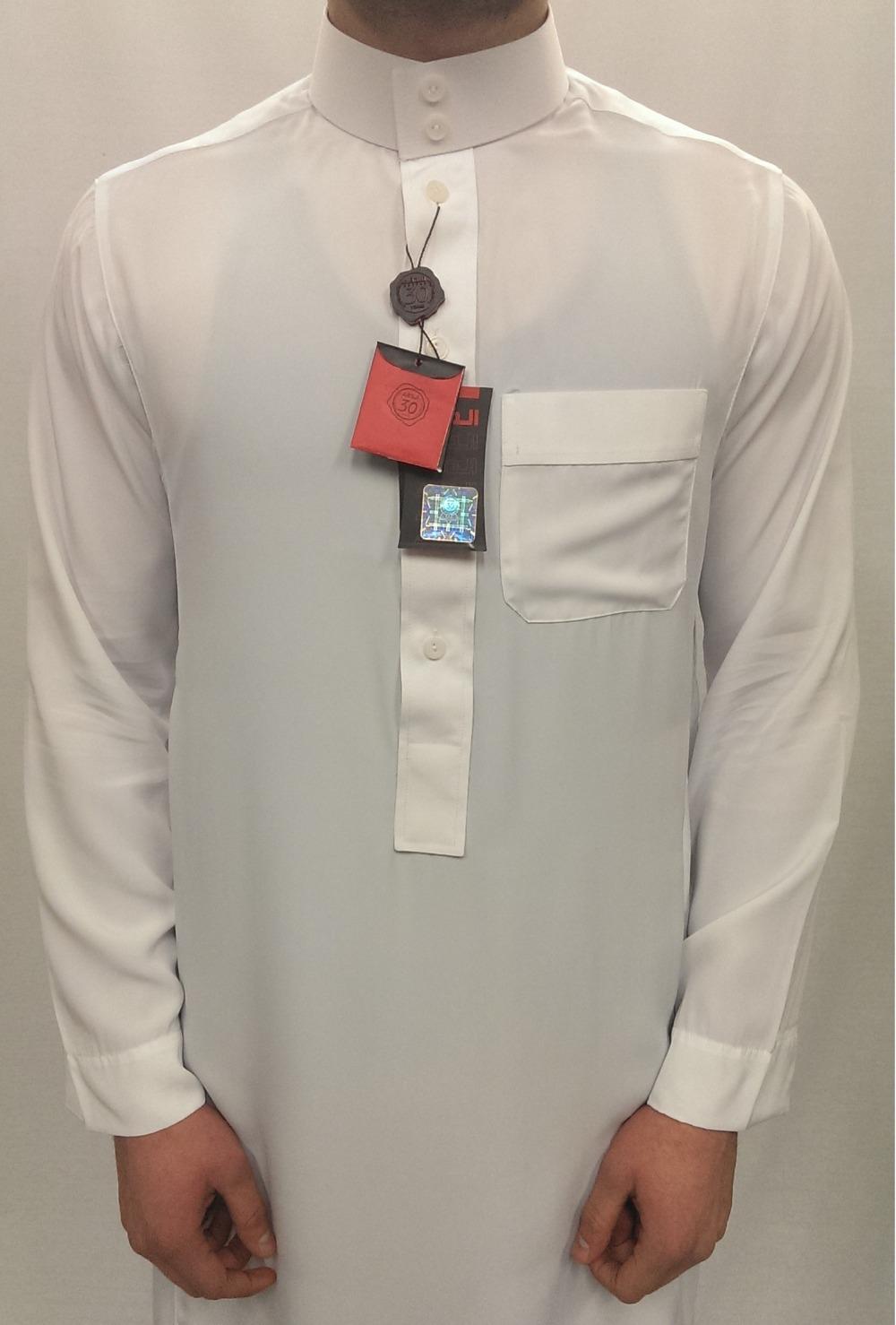 2016 Design Mens Islamic Thobe Saudi Style Robe Arab Daffah Thobe ...