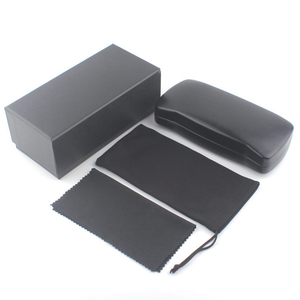 HJ Wenzhou Wholesale High Quality Eyewear Gifts with Logo Boxes Branded Sunglasses Packaging Kits Boxes Leather PU Glasses Case