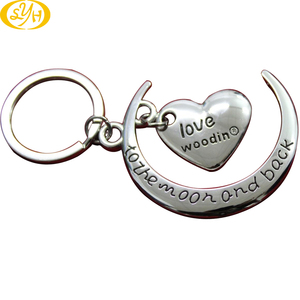 Free Samples Zinc Alloy Silver Plating Mother and Daughter Lovely Customs Souvenir Metal 3D Keychain