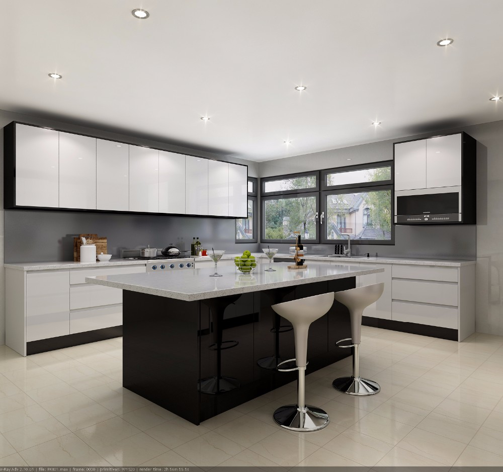 White Kitchen Cabinets 2018: 2018 New Design White Melamine Carcass Solid Wood Shaker