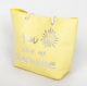 Shiny summer beach bag gold silver printing on Paper straw material tote beach bag custom with EVA