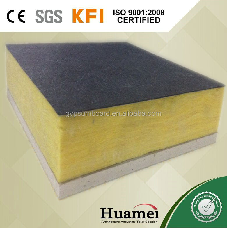 fiber glass wool combine with gypsum board for ceiling/ music rooms, home theatres, call centers, doctor's offices, and restaura