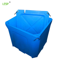 460L rotomolded big PE plastic storage box with lids,Rotomoulded fishing cool box