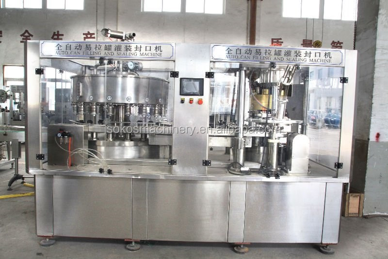 Aluminum Beverage Cans Energy Drink Beverage Making Proceiing Filling Machine Production Line