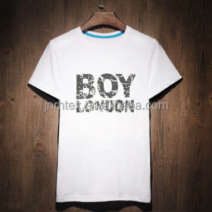 OEM service 180 gsm 100% combed cotton plain white child t shirt