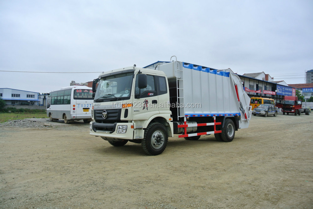 Guaranteed 100% Factory Sale Newest FOTON 8cbm Hydraulic Pressed Garbage Compactor truck
