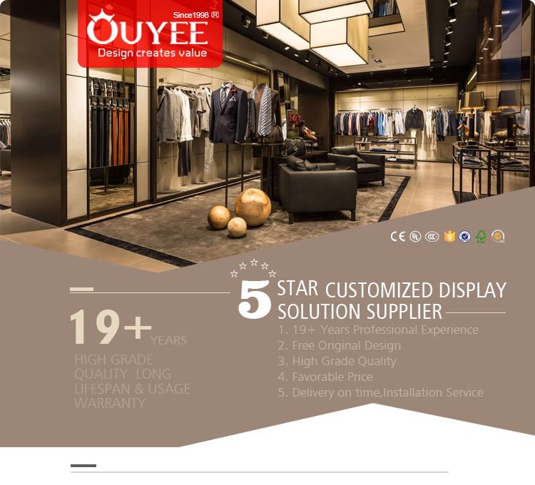 af4a459a3d Gran venta personalizada moda diseño ropa tienda decoración para hombres