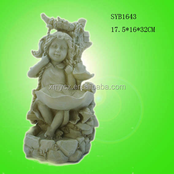 Angel statue polyresin garden figurines for sale.
