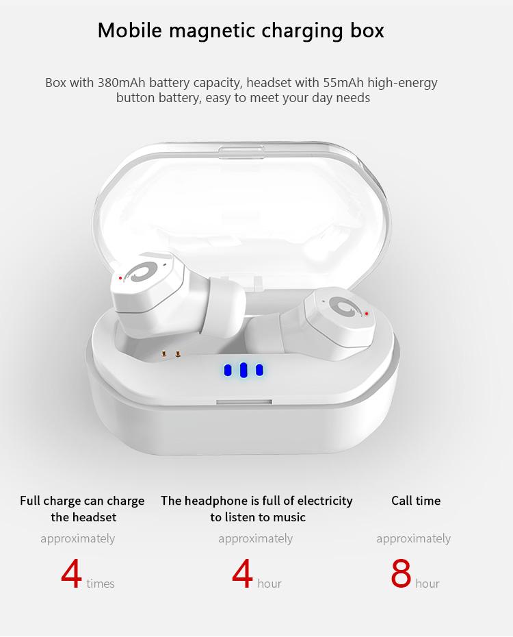 Touch Siri Control Waterproof IPX7 mini True Wireless Stereo TWS Headsets Headphones Earphones Blue tooth Earbuds