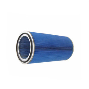 Cone filter for coal mine machine
